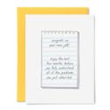 Tiny Hooray - TIH (formerly Little Goat, LG) New Job Notepad Card