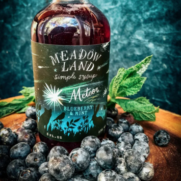 Meadowland - MEA Meteor Simple Syrup, Ltd. Edition (Blueberries and Mint)