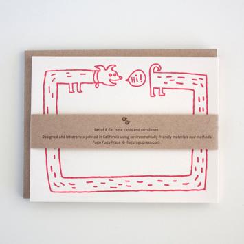 Fugu Fugu Press - FF Hi Long Dog, Set of 8 Cards