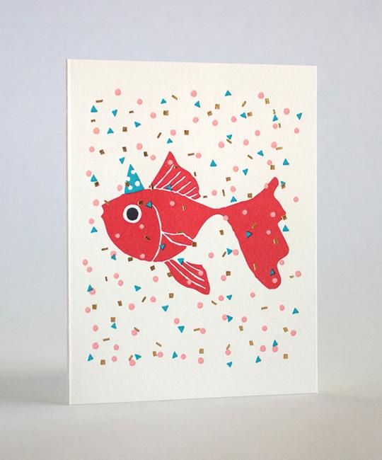 Fugu Fugu Press - FF Confetti Fish Birthday Card