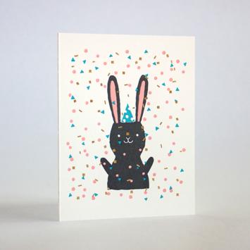 Fugu Fugu Press - FF Confetti Bunny Birthday Card