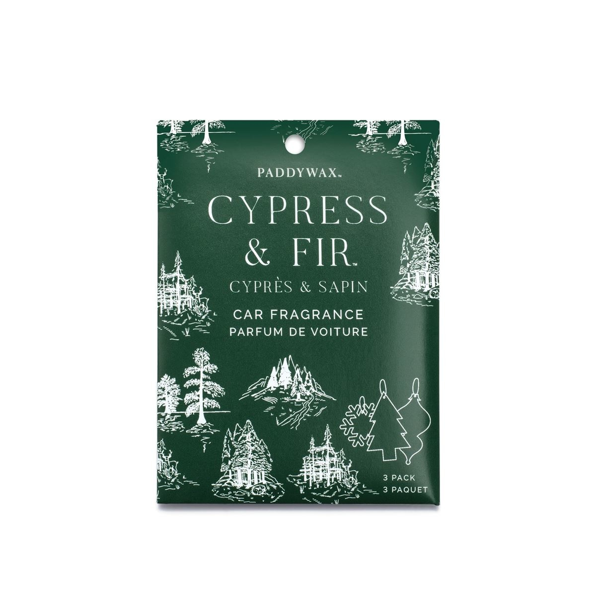 Paddywax - PA Cypress & Fir Air Freshener (car fragrance)