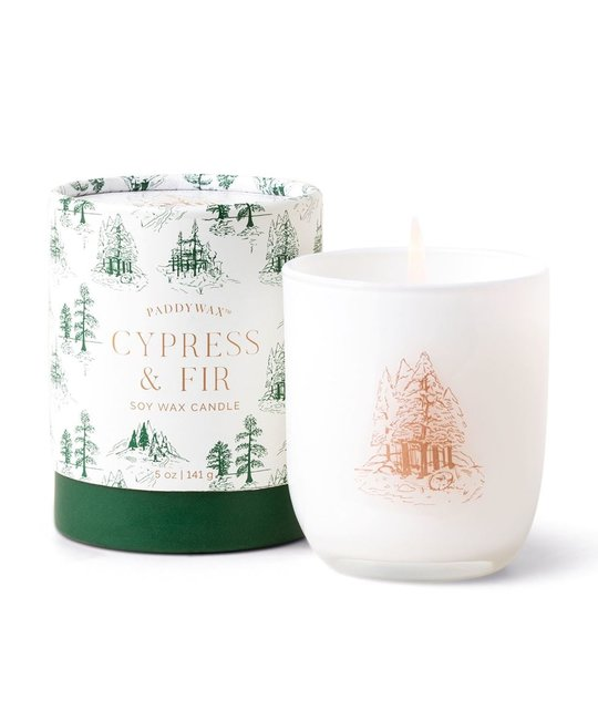 Paddywax - PA PA CALA - Cypress + Fir Cylinder Boxed Candle