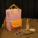 Sticky Lemon - STL Sticky Lemon - Large Wanderer Backpack in candy pink + sunny yellow + carrot orange