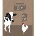 Modern Printed Matter - MPM Thanksgiving Rocks (Cow and Chicken)
