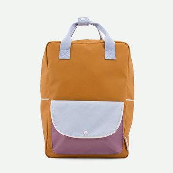 Sticky Lemon - STL Sticky Lemon - Large Wanderer Backpack in caramel fudge + sky blue + pirate purple