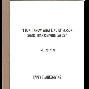 Power and Light Letterpress - PLL PLLGCTH0001 - Happy Thanksgiving