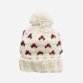 The Blueberry Hill - BH Kendall Holly Holiday Hand Knit Hat - Various Sizes