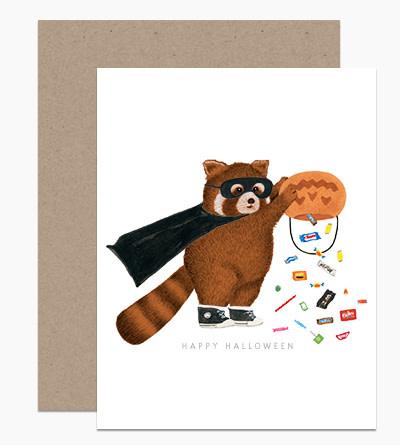 Dear Hancock - DH Happy Halloween Red Panda Card