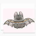 Dear Hancock - DH Happy Halloween Bat Card