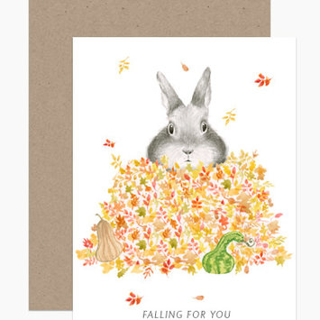 Dear Hancock - DH Falling For You Fall Leaves Card