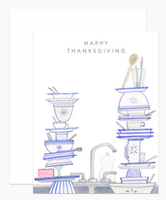Dear Hancock - DH Happy Thanksgiving Dishes Card