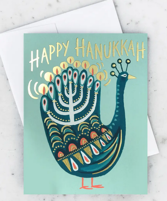 Idlewild Co - ID Hanukkah Peacock Card