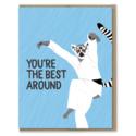 Modern Printed Matter - MPM Karate Kid Lemur, Best Around Card