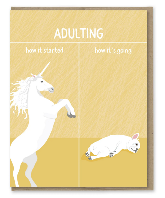 Modern Printed Matter - MPM How It's Going, Adulting Card