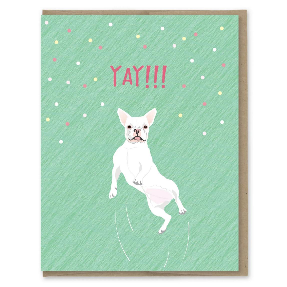 Modern Printed Matter - MPM Yay French Bulldog Card