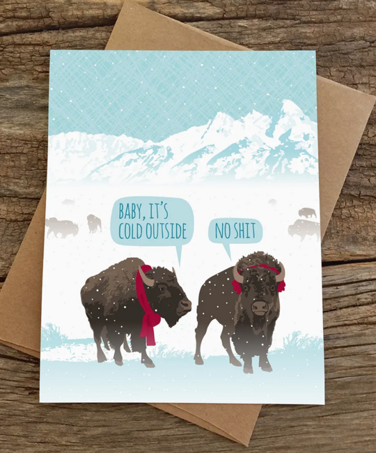 Modern Printed Matter - MPM Baby Its Cold Out Bison Holiday Card