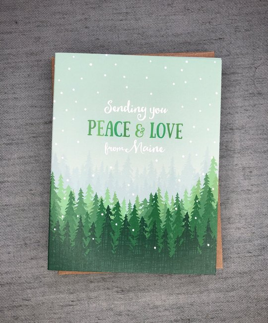 Modern Printed Matter - MPM Peace and Love Maine Holiday Notecards, set of 8