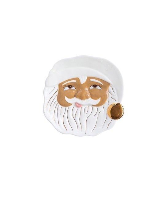 One Hundred 80 Degrees - 180 Brown Santa Cookie Plate (Papa Noel)