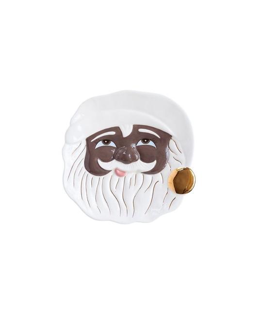 One Hundred 80 Degrees - 180 Black Santa Cookie Plate (Papa Noel)