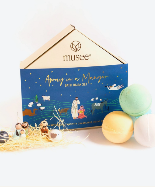 Musee - MUS Away In A Manger Bath Balm Bombs, Set of 6