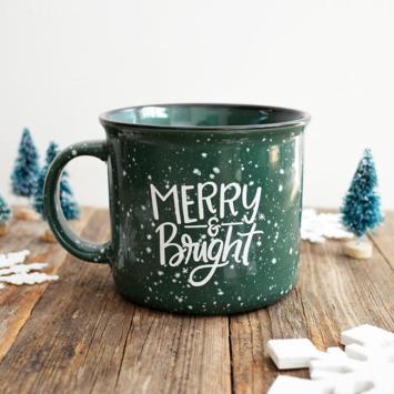 Pen and Paint - PEPA Merry & Bright Green Holiday Mug