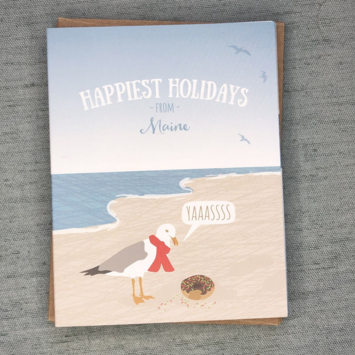 Modern Printed Matter - MPM Seagull Donut Maine Holiday Notecards, set of 8