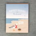 Modern Printed Matter - MPM Seagull Donut Seacoast Holiday Notecards, set of 8
