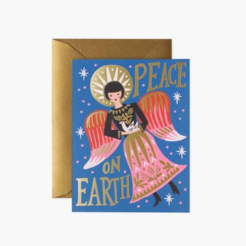 Rifle Paper Co - RP Rifle Paper - Peace on Earth Angel Holiday Card