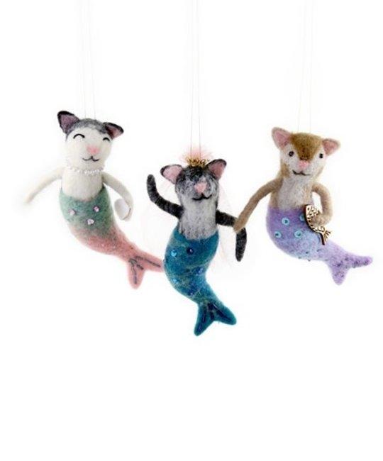Cody Foster - COF Purr-maid Mermaid Cat Assorted Ornament
