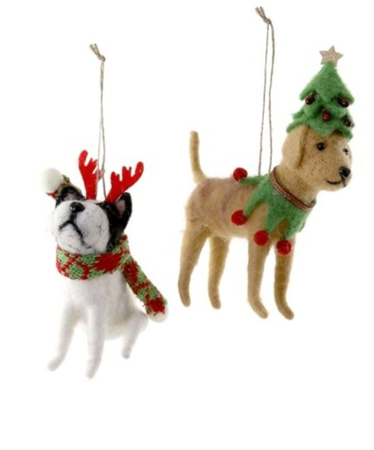 Cody Foster - COF Felt Friends Holiday Dogs Assorted Ornament