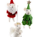 Cody Foster - COF Merry Xmas Holiday Felt Mouse Assorted Ornament