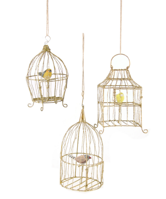 Cody Foster - COF Gilded Birdcage Assorted Ornament