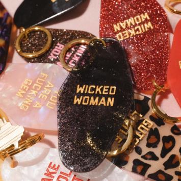 Golden Gems - GOG Wicked Woman Motel Keytag