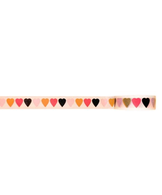 Golden Gems - GOG White Heart Washi Tape