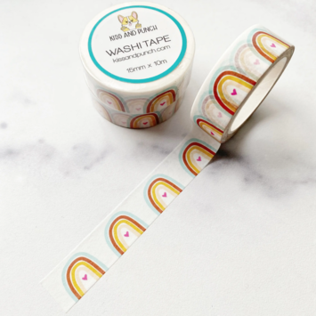 Kiss and Punch - KP Millennial Rainbow Washi Tape