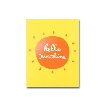 1973, Ltd. Hello Sunshine A6 Notebook, Blank