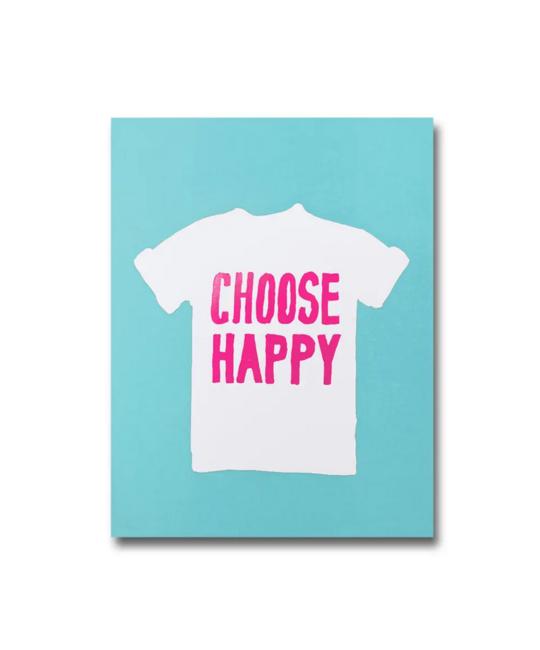 1973, Ltd. Choose Happy A6 Notebook, Blank