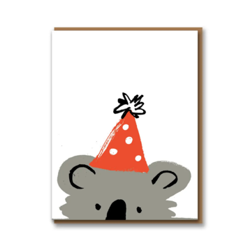 1973, Ltd. Koala (Party Hat) Birthday Card