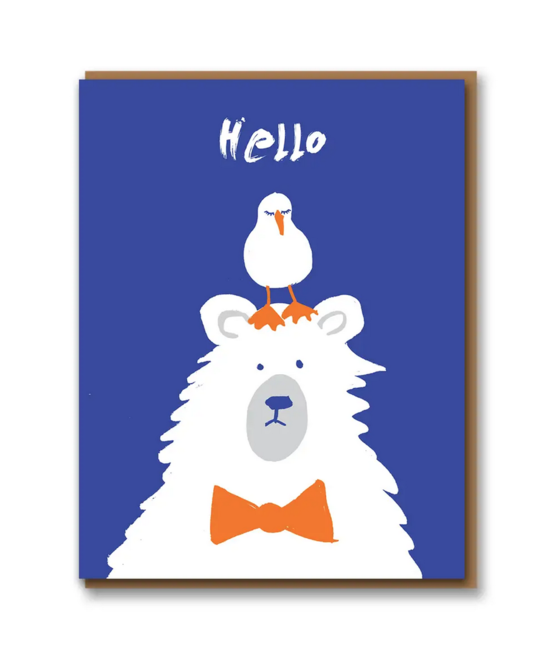 1973, Ltd. Hello Seagull and Polar Bear Card