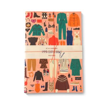 1973, Ltd. Stitched Notebooks Lined, Set of 3