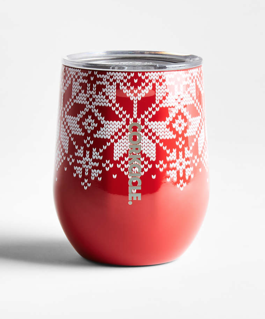 Corkcicle - CO Corkcicle Red Fairisle Stemless