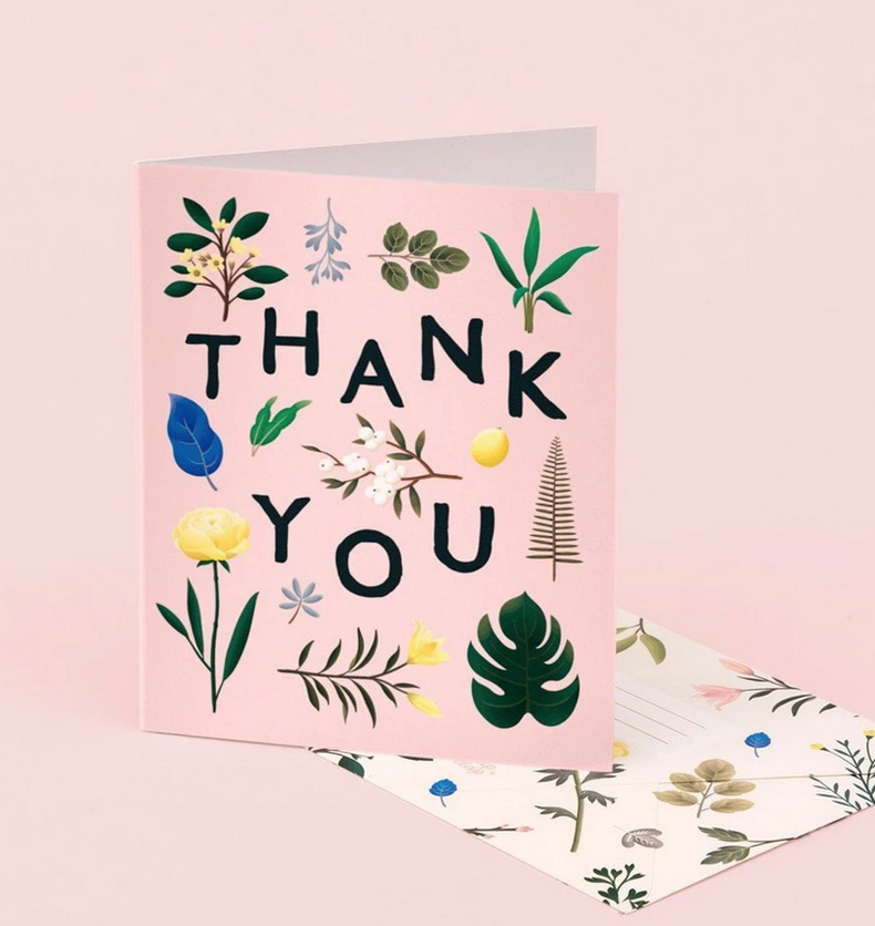 Clap Clap - CC Assorted Botanical Thank You Card