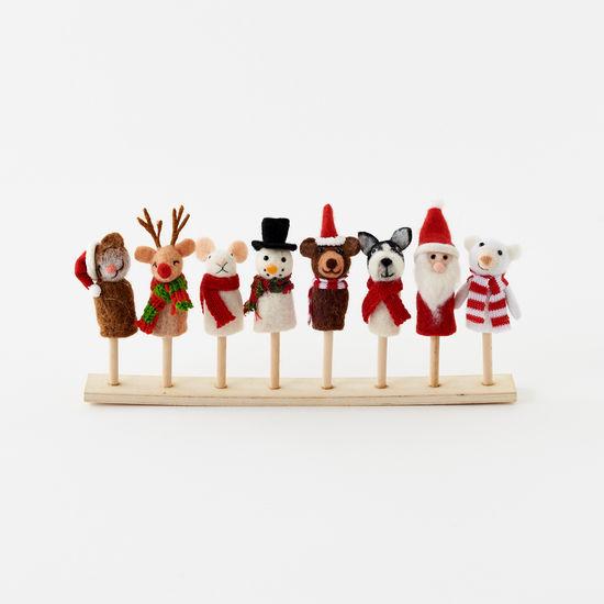 One Hundred 80 Degrees - 180 Assorted Christmas Finger Puppet Animal