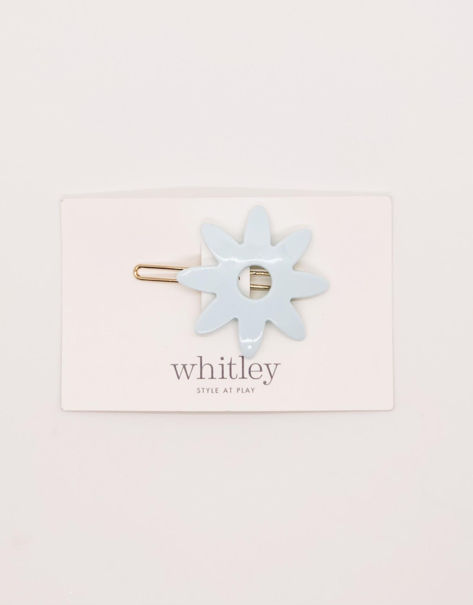 Whitley - WH WH ACHA - Blue Flower Hair Clip