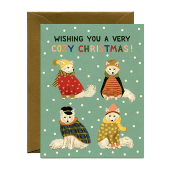 Yeppie Paper - YP Cozy Foxes Holiday Card
