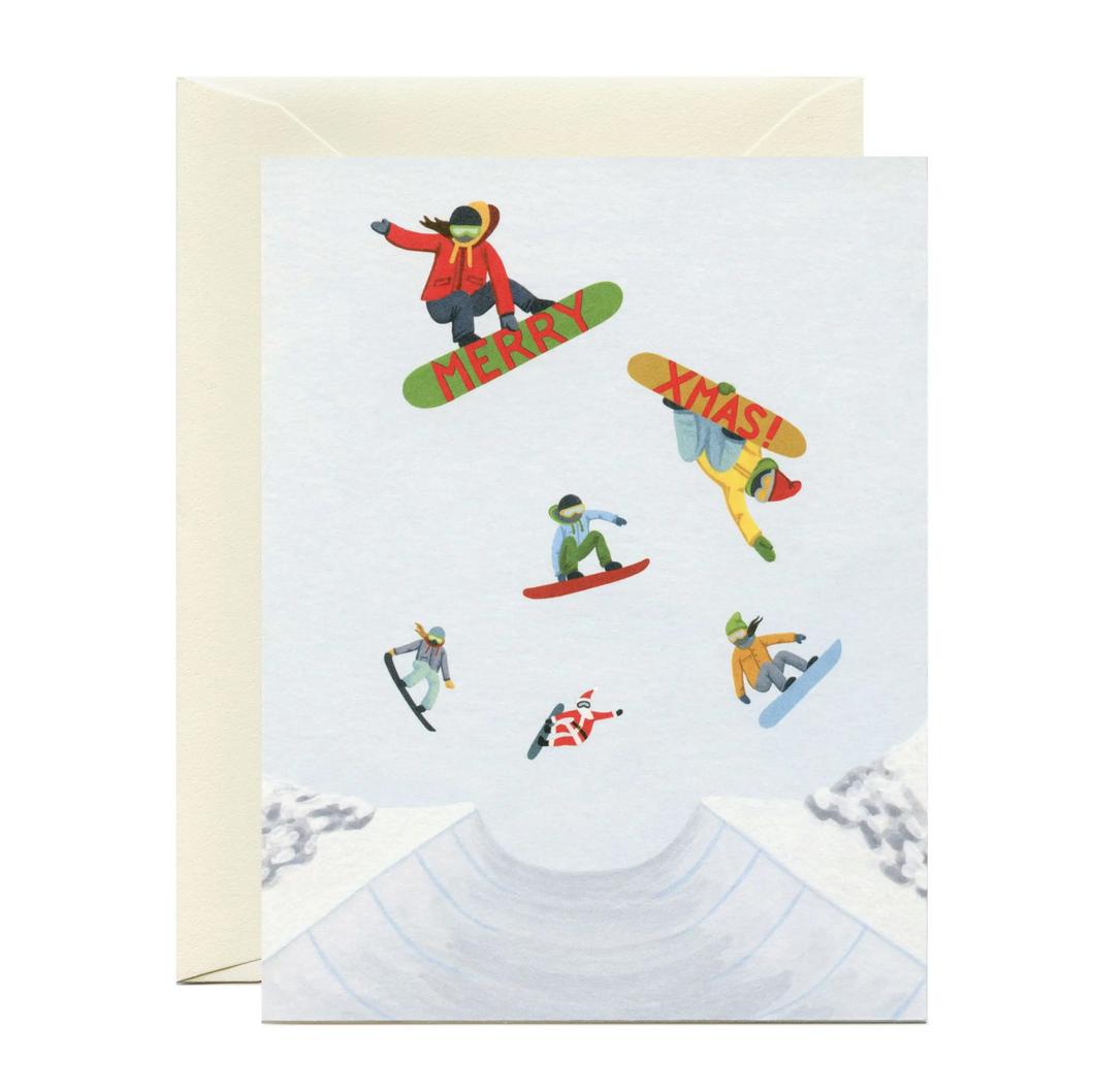 Yeppie Paper - YP Snowboarders Christmas Card