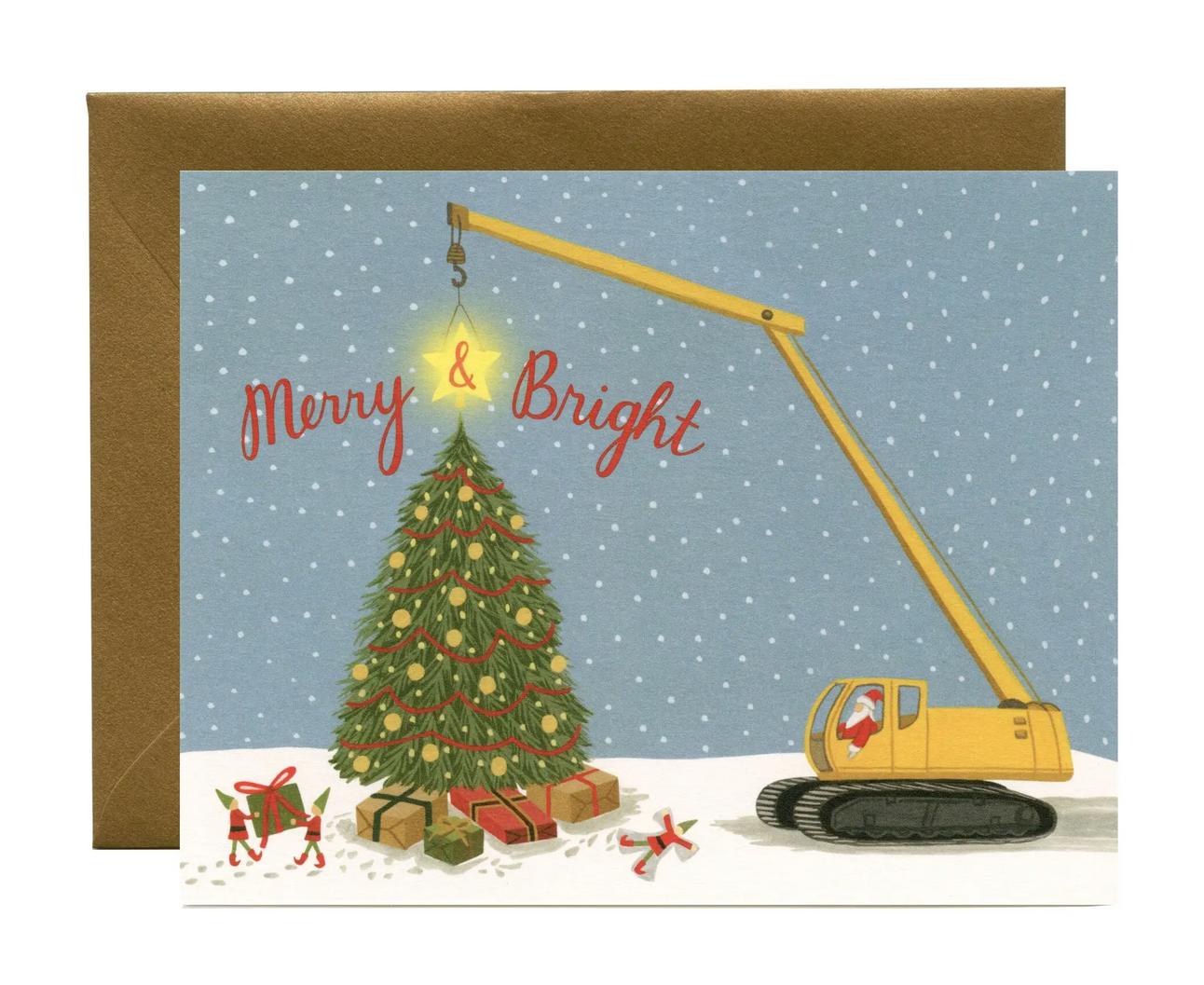 Yeppie Paper - YP Construction Santa Christmas Card