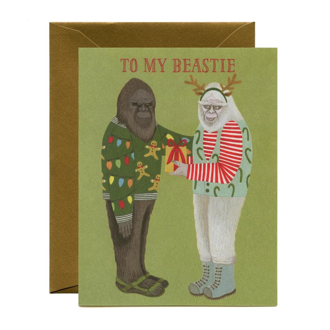 Yeppie Paper - YP To My Beastie Christmas Card