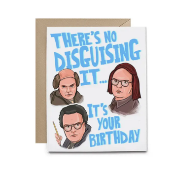 Hello Harlot - HH Dwight Disguise Office Birthday Card
